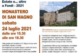 Fondi, escursione-visita MONASTERO DI SAN MAGNO sabato 24 luglio dalle ore 15.30 alle ore 18.30
