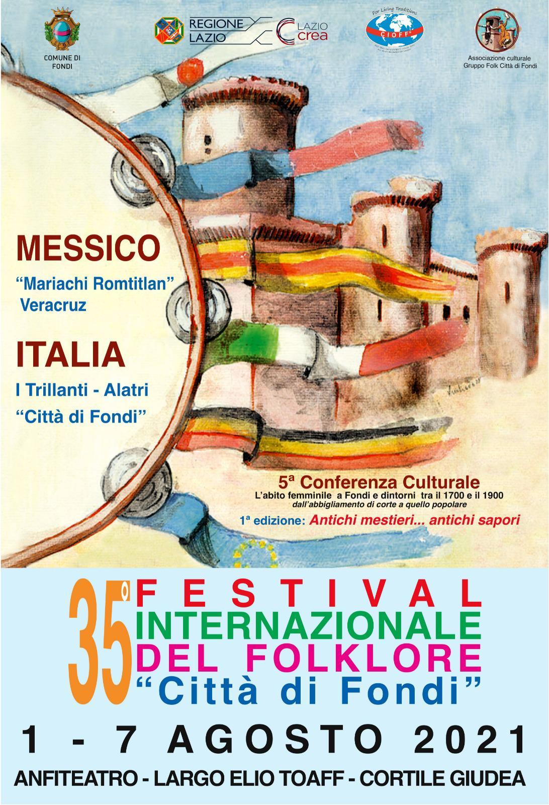 locandina Festival del Folklore Fondi