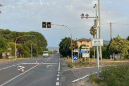 Fondi, semaforo di Tumulito – dispositivo di rilevazione di infrazioni in fase di attivazione