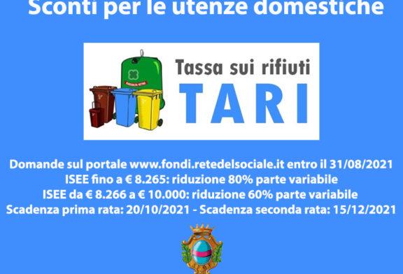A Fondi agevolazioni Tari per le utenze domestiche, è possibile fare domanda fino al 31 agosto