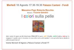 """""""I colori sulla pelle"""", convegno tra arte e dermatologia martedì 10 agosto a Palazzo Caetani Fondi"""